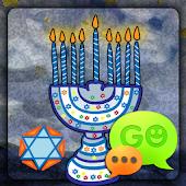 GO SMS Pro Hanukkah Theme