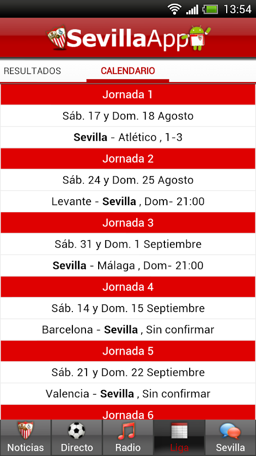 Sevilla App - screenshot