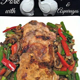 Pork, Mushrooms, and Asparagus.
