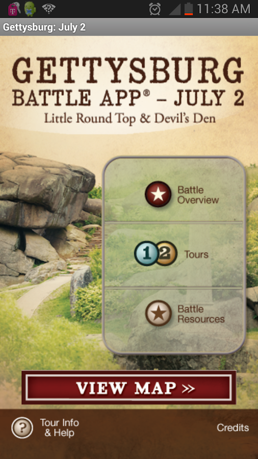 Gettysburg Battle App: July 2 - screenshot