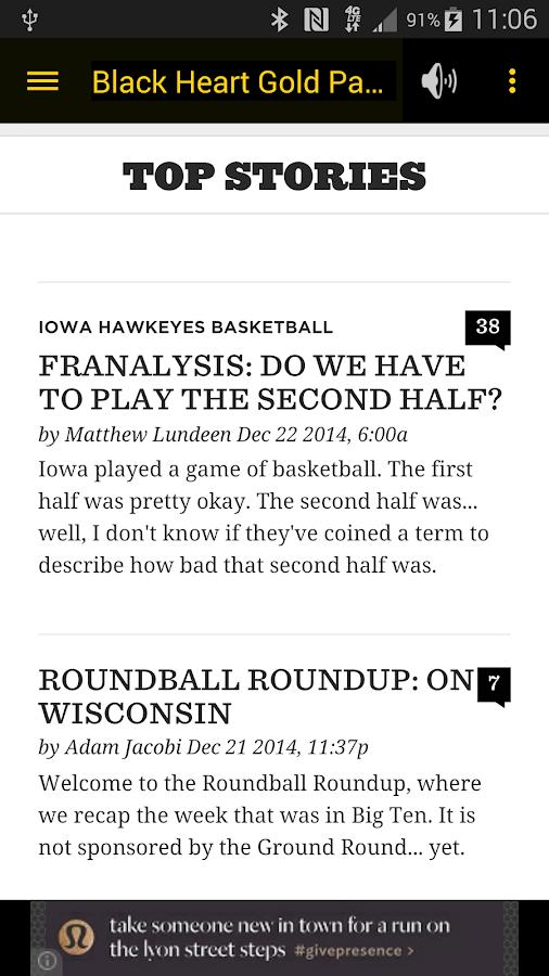 Hawkeye Basketball Schedule - screenshot