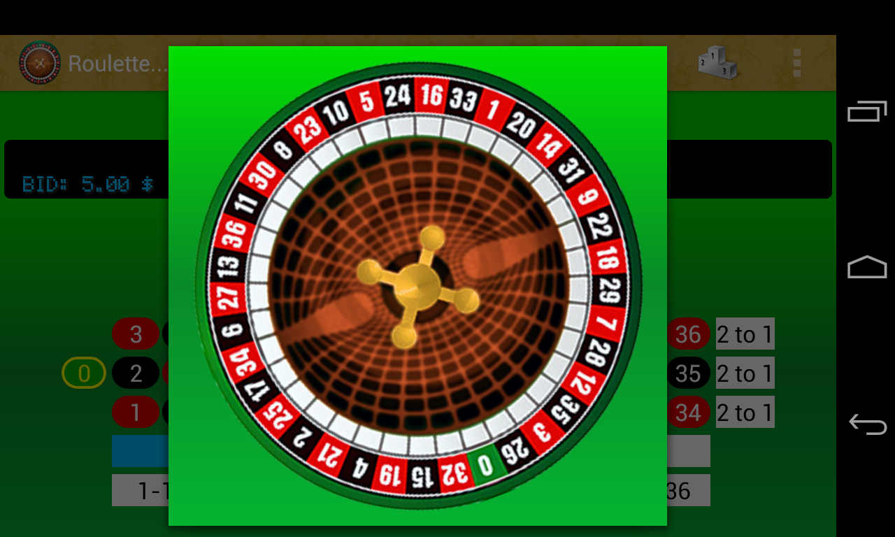 Roulette playing colors