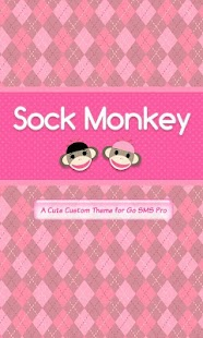 Sock Monkey Pink Go SMS Theme - screenshot thumbnail
