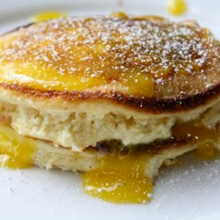 Ricotta Pancakes with Lemon Curd