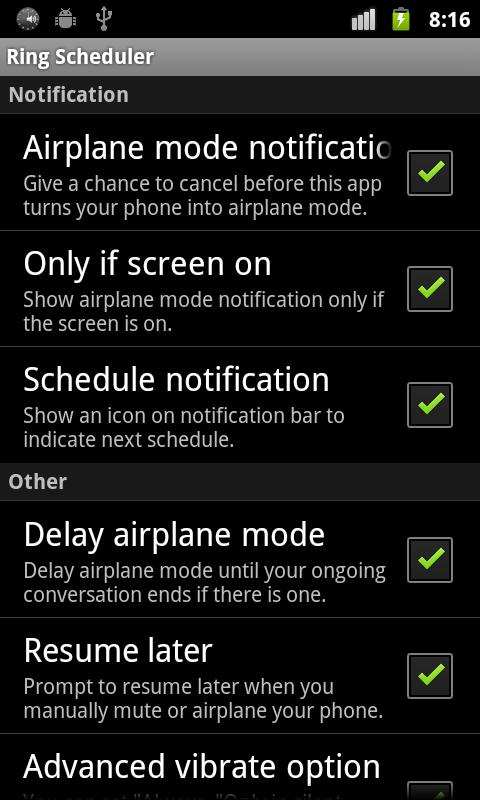 Ring Scheduler - screenshot