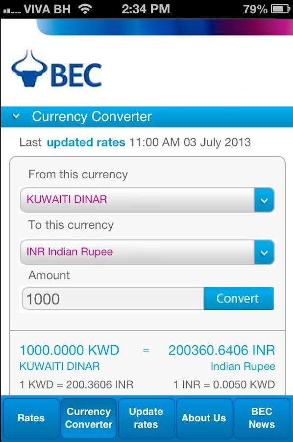 Bec exchange forex rates