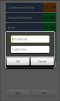Screenshot of Cardiac risk calculator