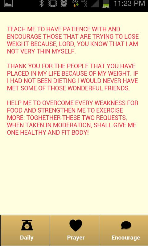 HELP ME TO LOSE WEIGHT - screenshot