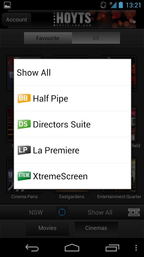 Hoyts Cinemas - screenshot