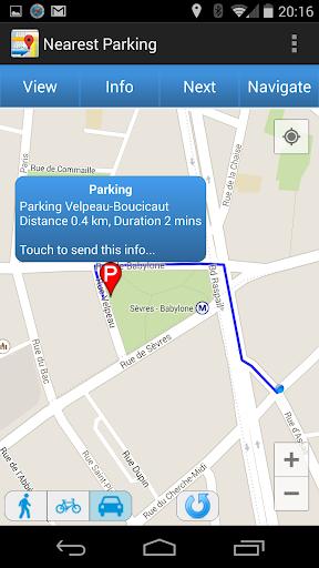 Nearest Parking