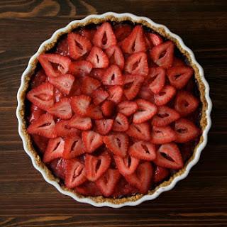 Dark Chocolate Strawberry Tart.