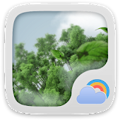 Windy Day Weather Widget Theme