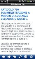 Screenshot of Italian Penal Code