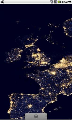 Europe at Night Live Wallpaper