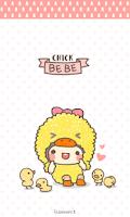 Screenshot of bebe_chick go sms theme