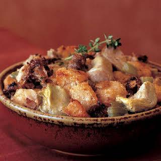 Artichoke, Sausage, and Parmesan Cheese Stuffing.