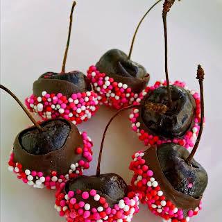 Brandy Infused Chocolate Dipped Cherries.