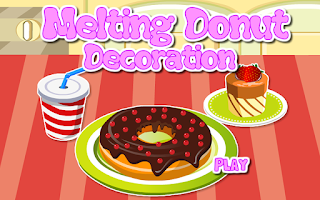 Screenshot of Decoration Game-Melting Donut