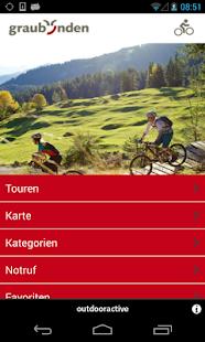 Graubünden mountain biking - screenshot thumbnail