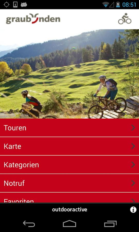 Graubünden mountain biking - screenshot
