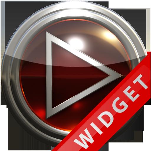 Poweramp Widget Red Glas