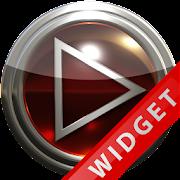 Poweramp Widget Red Glas icon