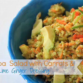 Cleansing Quinoa Carrot Salad with Super Zesty Lime and Ginger Dressing.