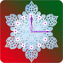 Crystal Snow Clock icon
