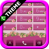 exDialer Pink Roses Theme
