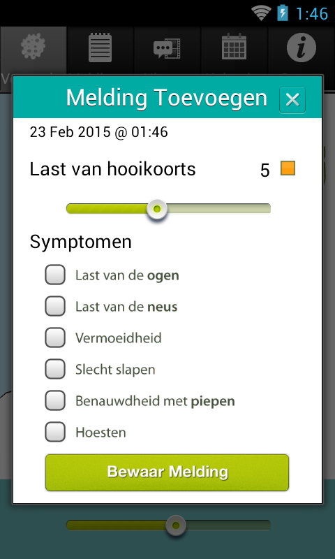 Pollennieuws- screenshot