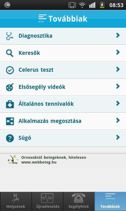 Elsősegély - Mit kell tennem?- screenshot