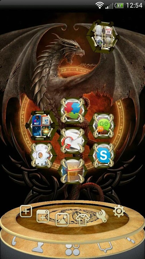 Next Launcher Dragon Theme- screenshot