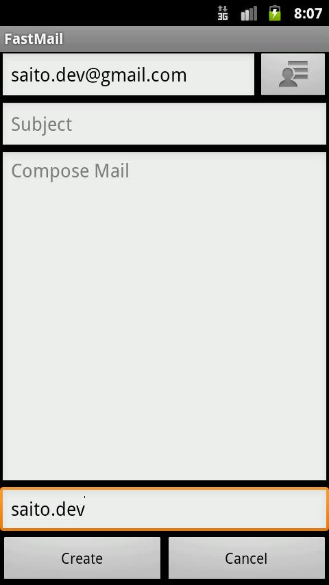 FastMail- screenshot
