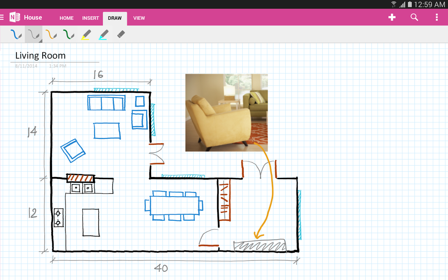 OneNote - screenshot