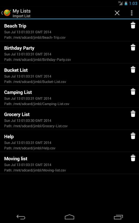 Ultimate Checklist - screenshot