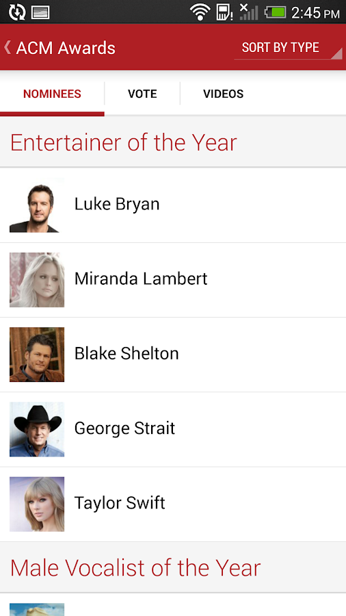 Academy of Country Music 2014 - screenshot