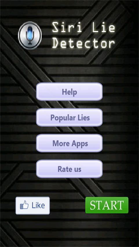 Siri Lie Detector- screenshot