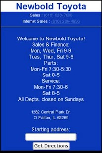 Newbold Toyota - screenshot thumbnail