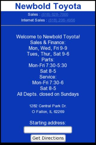 Newbold Toyota - screenshot