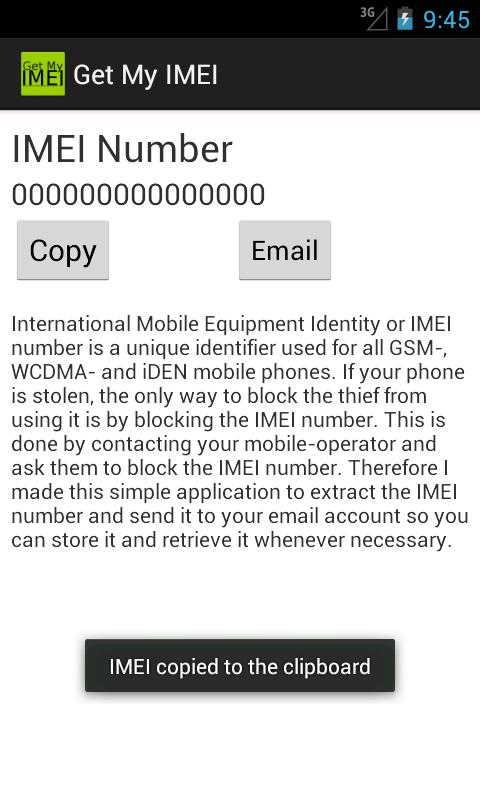 Get My IMEI