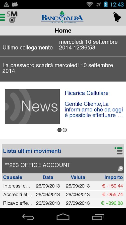 Banca D Alba Mobile App Android Su Google Play