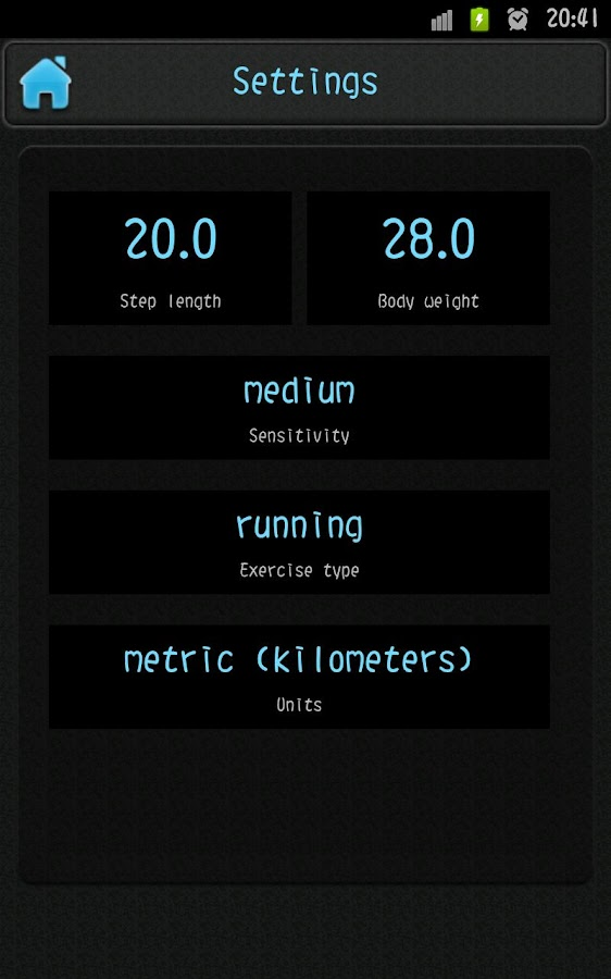 Simple Pedometer- screenshot
