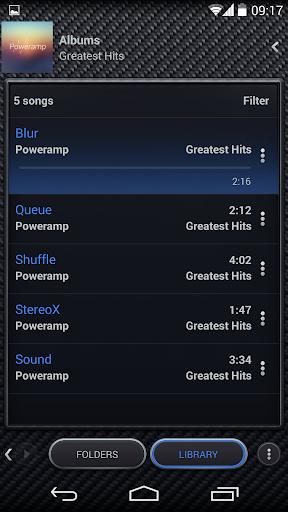 Skin for Poweramp Carbon Fiber  screenshots 5
