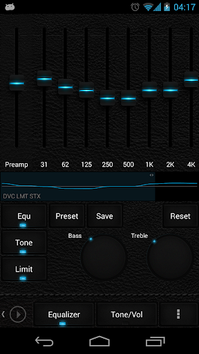 Skin for Poweramp Dark Leather  screenshots 4