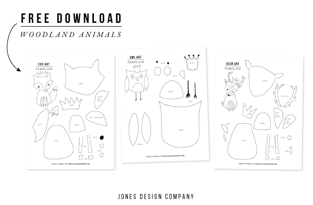 art from art woodland animals templates jones design co