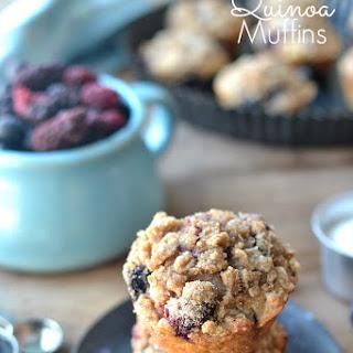 Triple Berry Quinoa Muffins
