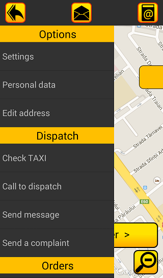 TAXI NAPOCA Client- screenshot