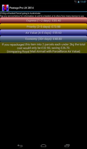 免費購物App|Postage Pro UK 2015|阿達玩APP