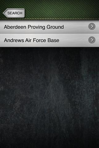 Bases - Find US Military Bases - screenshot