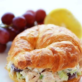 Chicken Salad Croissant Sandwiches.